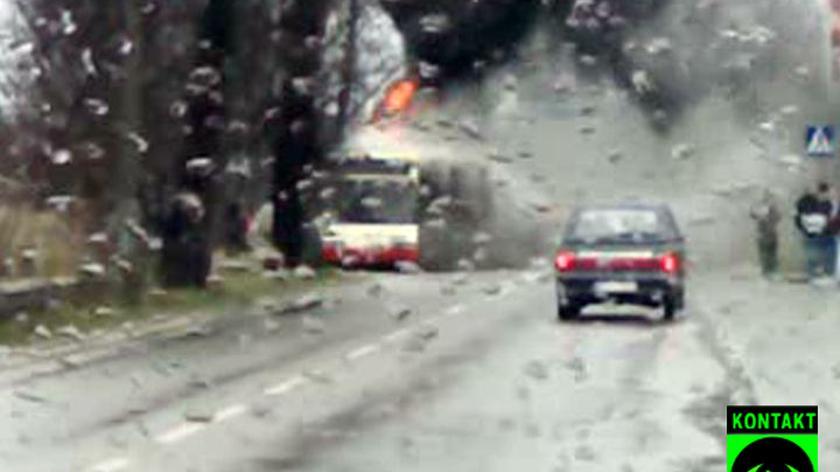 W Gdańsku spłonął autobus (film: Julka Korzeń)