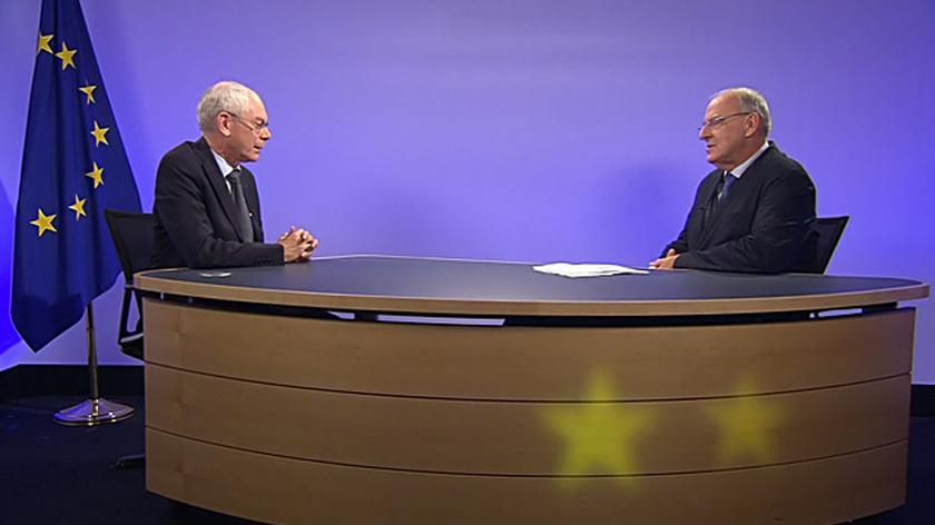 Rompuy o Tusku: nie zazdroszczę mu