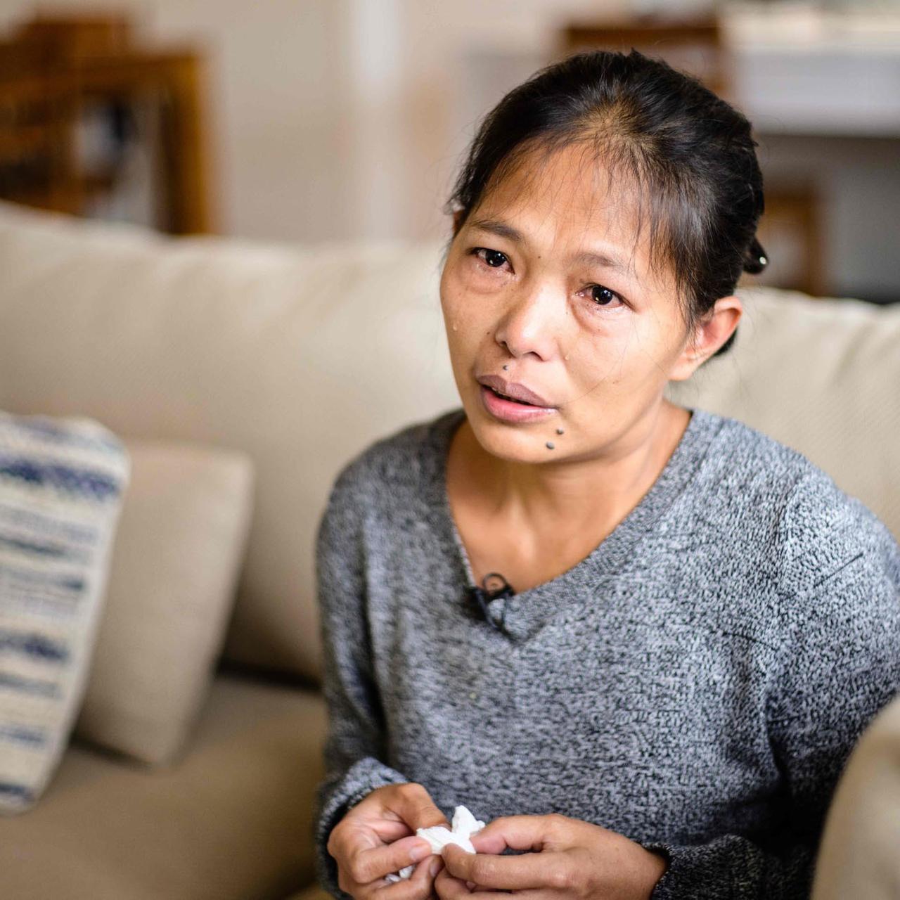 Samotna kobieta z rakiem