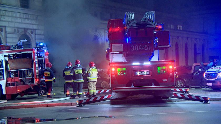 Straż pożarna o pożarze Dworcu Świebodzkiego