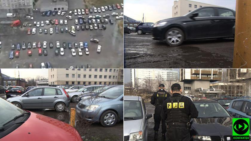 Dziki parking w centrum Katowic