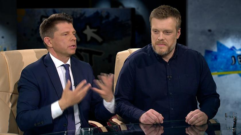 Adrian Zandberg i Ryszard Petru w Tak Jest