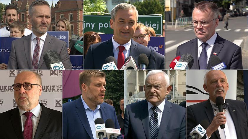 """Konwencje i wiece w ostatnim dniu kampanii wyborczej (""""Fakty w południe"""" 24.05.2019 r.)"""