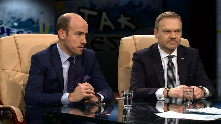 """Borys Budka i Artur Warzocha w """"Tak jest"""""""