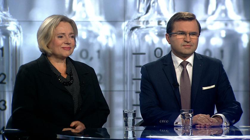 """Wanda Nowicka i Zbigniew Girzyński w """"Faktach po Faktach"""""""