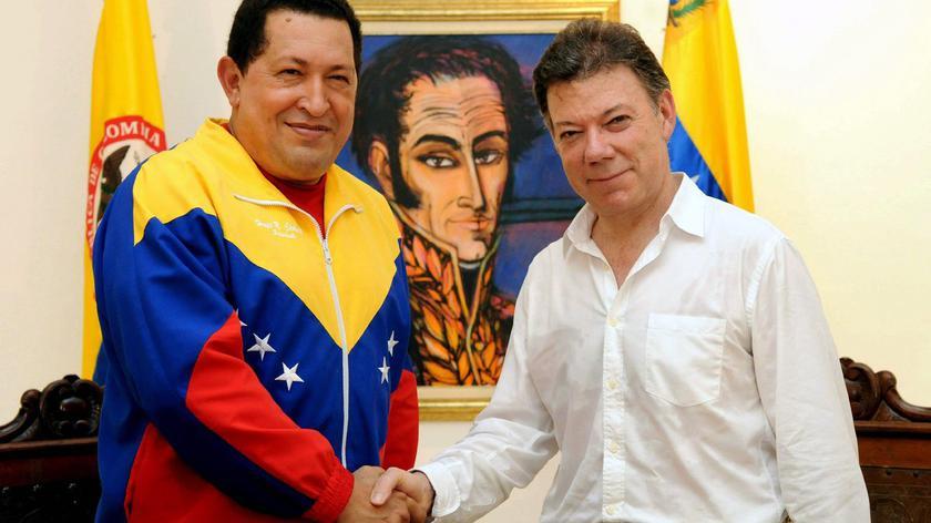 Prezydent Wenezueli i prezydent Kolumbii