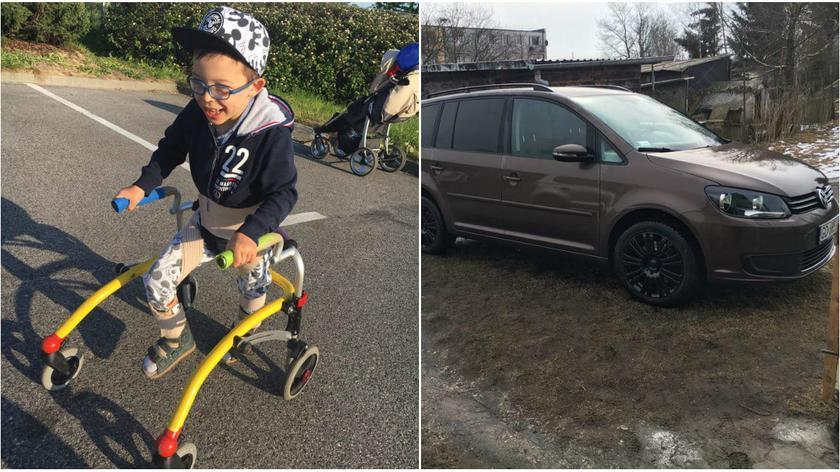 Ukradł samochód. W środku był sprzęt niepełnosprawnego chłopca