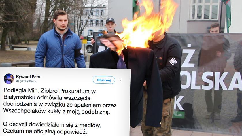 """Spalili kukłę z podobizną Petru (Materiał """"Polska i Świat"""", 26.03.18)"""