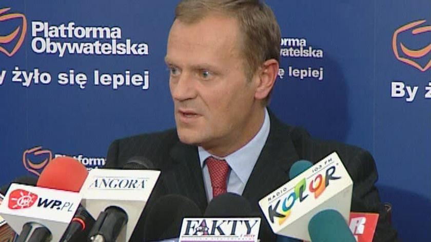 Tusk: poprzemy każdy wniosek o rozwiązanie Sejmu