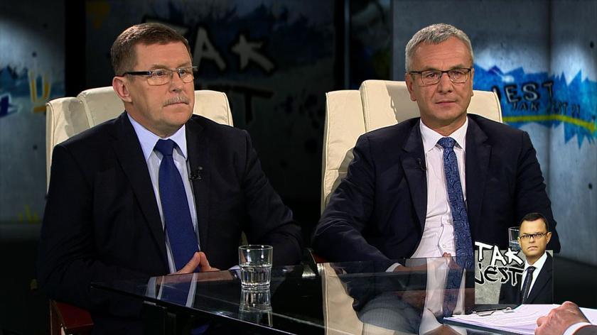 Zbigniew Kuźmiuk i Andrzej Biernat w Tak jest