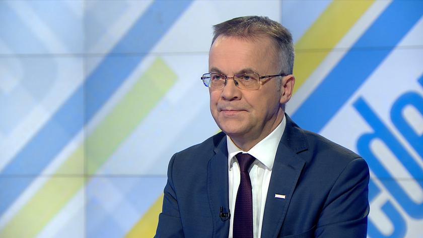 """Jarosław Sellin był gościem w progamie """"Jeden na jeden"""" w TVN24"""