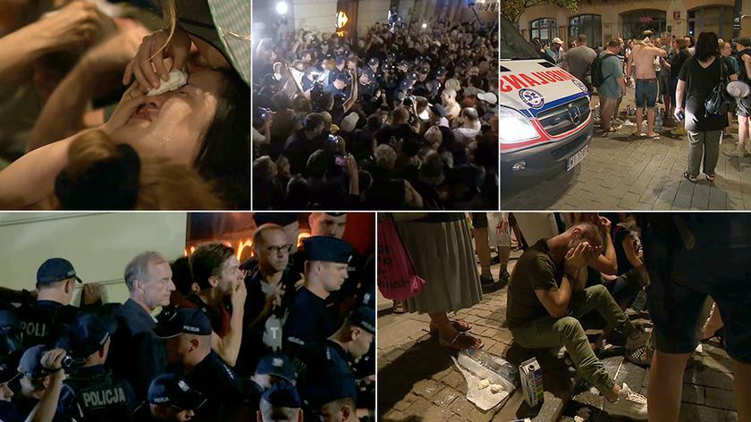 Na manifestacji policja użyła gazu łzawiącego