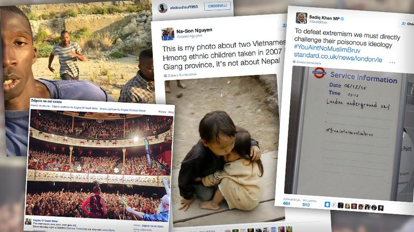 Nepalskie dzieci, uchodźca na Instagramie, pusty Paryż. Internetowe oszustwa 2015 roku