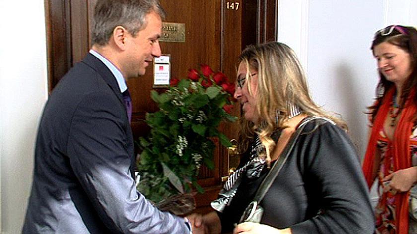 Napieralski przywitał Alicję Tysiąc