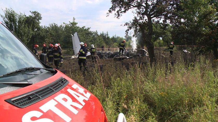 Samolot uderzył w ziemię ok. godz. 16