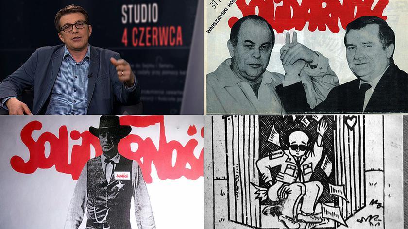 """Wspomnienie kampanii wyborczej '89 w """"Studio 4 czerwca"""" w TVN24"""