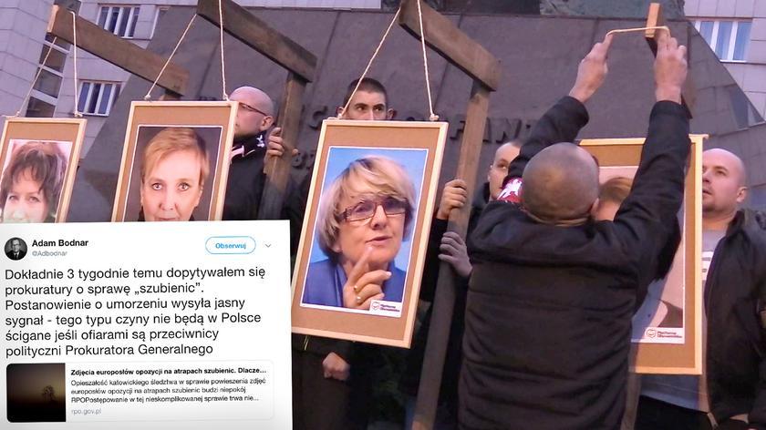 Prokuratura przedłuża śledztwo w sprawie zdjęć europosłów na szubienicach
