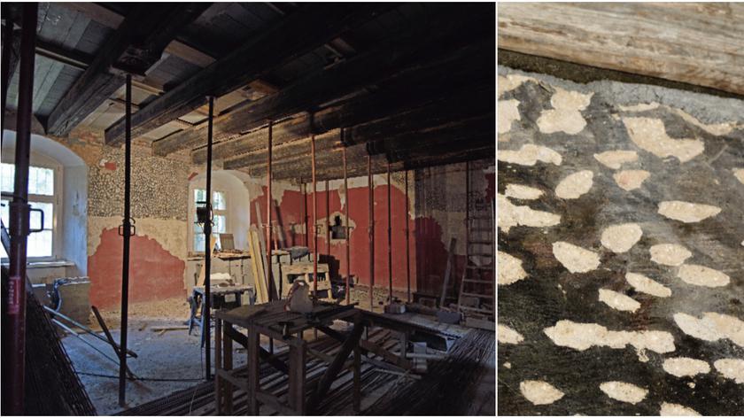 Podczas remontu muzeum odkryto malowidła ścienne