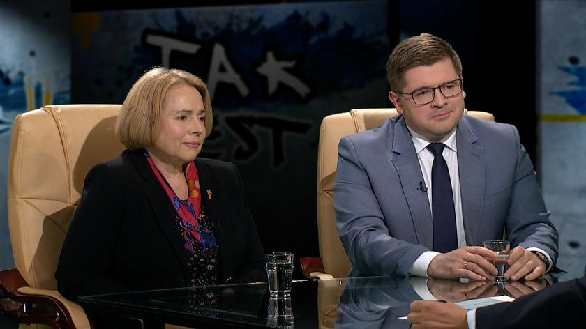 Wanda Nowicka i Tomasz Rzymkowski w Tak jest
