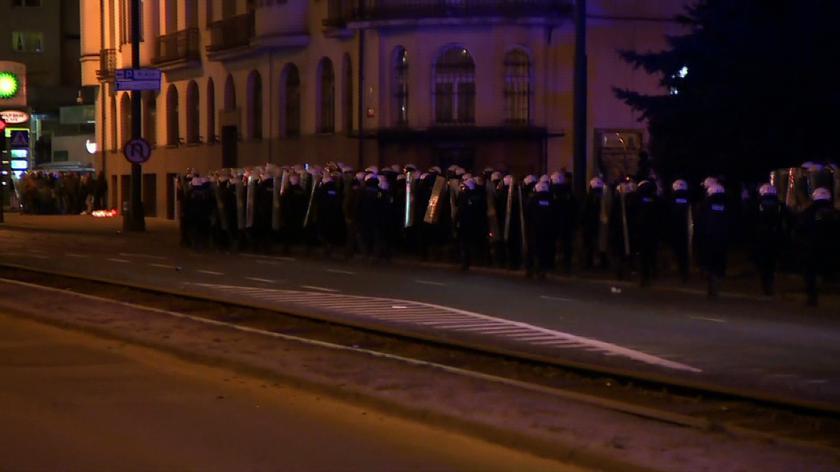 Po zamieszkach w Sosnowcu zatrzymano 13 osób