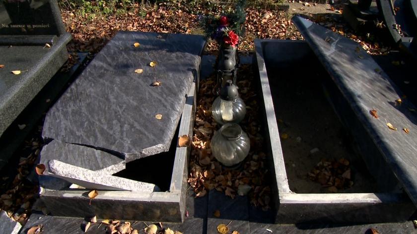 Łodzianie zbulwersowani zniszczeniem cmentarza
