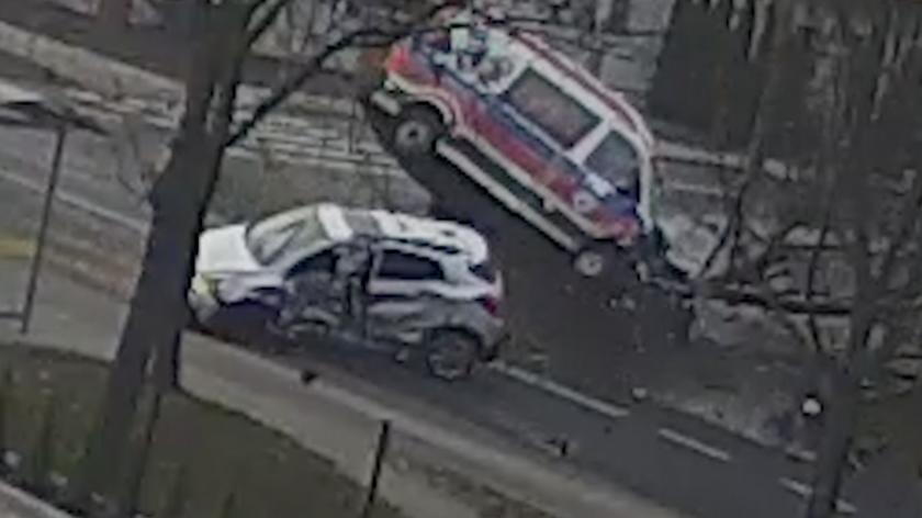 Wypadek zarejestrowała kamera monitoringu
