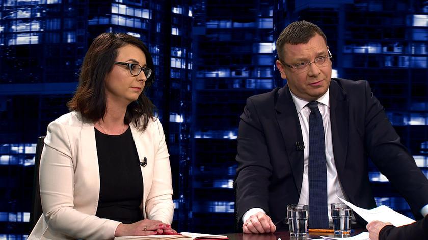 """Kamila Gasiuk-Pihowicz i Michał Wójcik w """"Kropce nad i"""""""