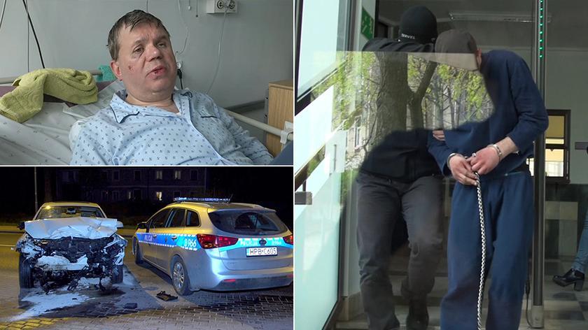 Najpierw miał napaść na księdza, później uciekać przed policjantami