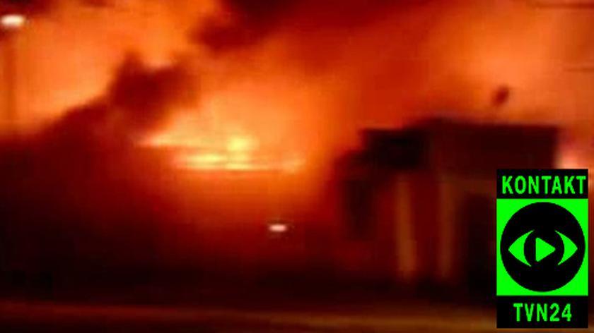 Płomienie sięgają kilku metrów/ film od internauty