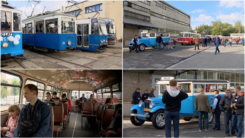 Parada autobusów i tramwajów w Krakowie