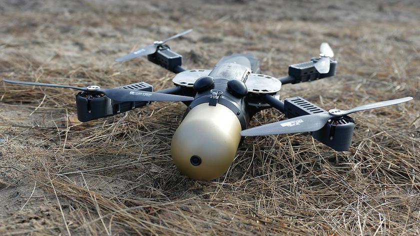 Dron kamikadze Dragonfly (nagranie archiwalne wypowiedzi Antoniego Macierewicza)