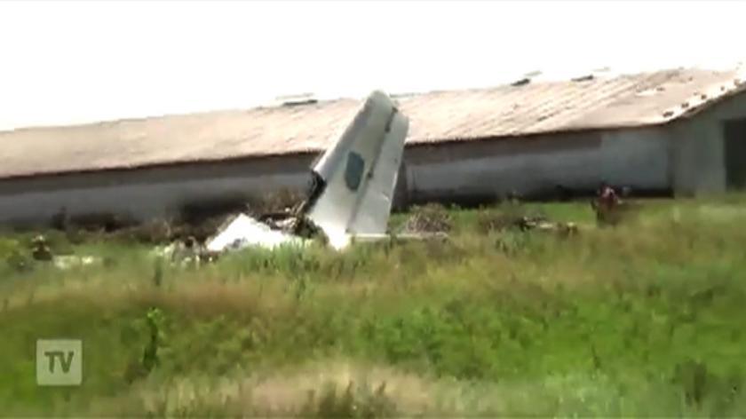 Zestrzelony ukraiński wojskowy An-26