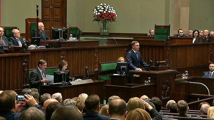Prezydent Duda wygłosił przemówienie podczas otwarcia posiedzenia Sejmu