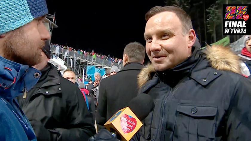 Andrzej Duda: z żoną wsparliśmy WOŚP, wrzuciliśmy pieniądze do puszki