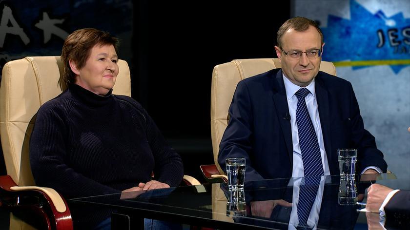 prof. Magdalena Środa i prof. Antoni Dudek w Tak jest