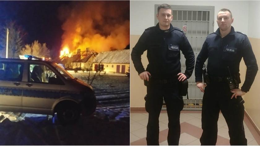 Płonący dom, w środku chora kobieta. Uratowali ją policjanci