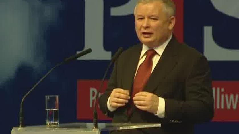 Jarosław Kaczyński na kongresie PiS