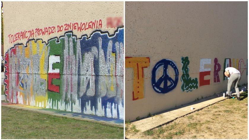 Mural został całkowicie zniszczony