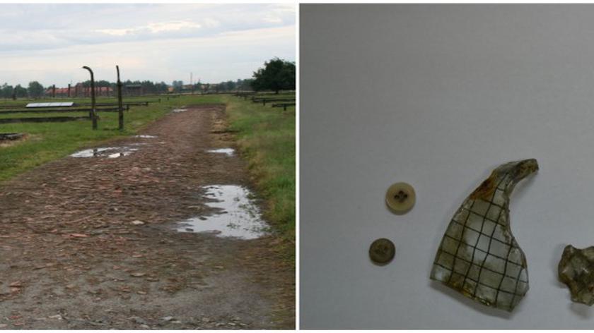 Wśród znalezionych przedmiotów są fragmenty maszynki do włosów, łyżeczki, guzików oraz dwóch szkieł
