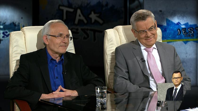 prof. Janusz Czapiński i prof. Tomasz Nałęcz