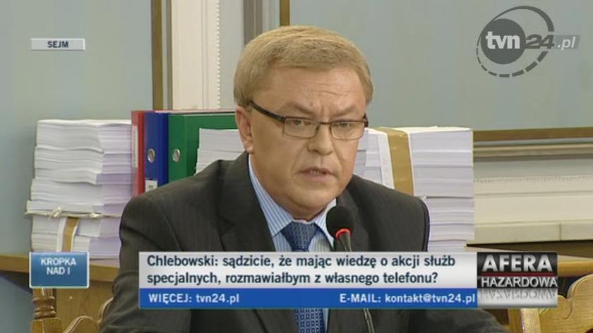 Chlebowski o spotkaniu na cmentarzu