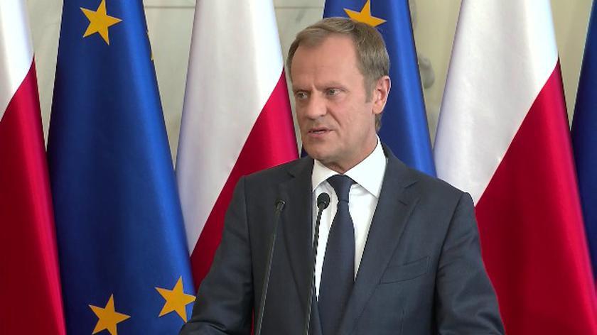 Donald Tusk nie widzi powodów do dymisji szefa MSW