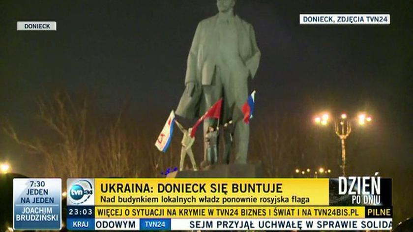 Donieck: zgromadzenie zwolenników władz w Kijowie