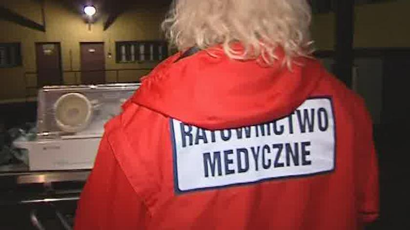 Ewakuacja noworodków ze szpitala w Jędrzejowie