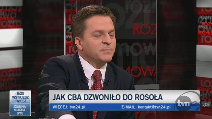 """""""Girzyński komentuje relację Rosoła z przeszukania CBA"""""""