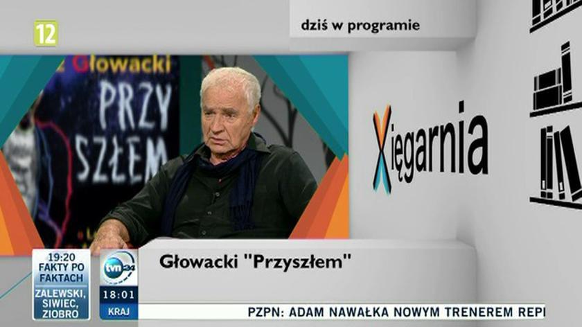 """Gościem """"Xięgarni"""" był Janusz Głowacki"""