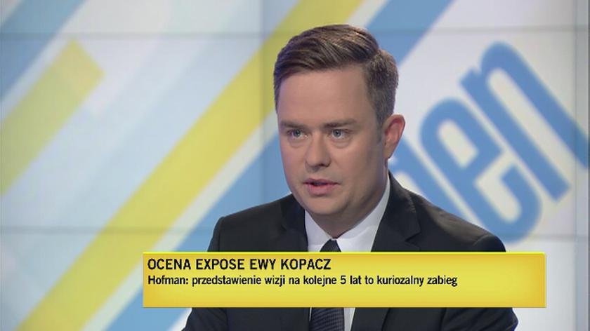 Hofman: Kopacz dwa poziomy niżej, Kaczyński nie będzie brał udziału z debacie