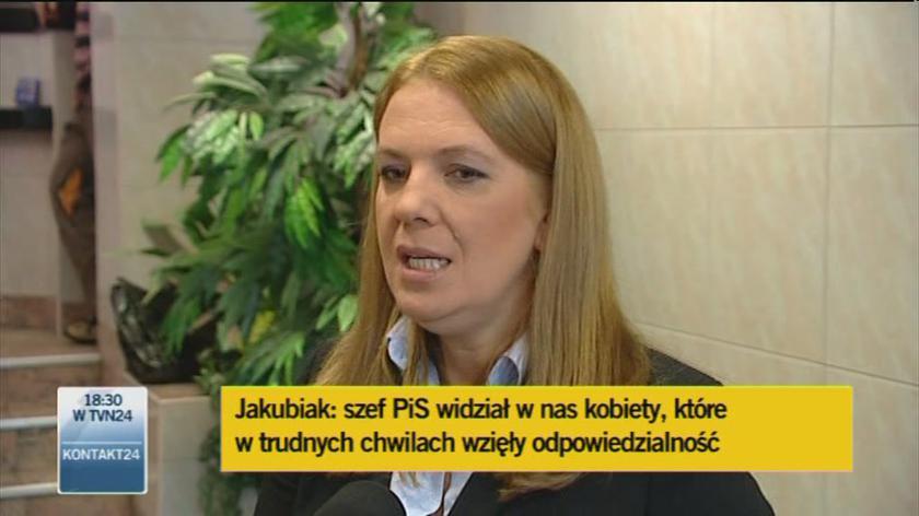 Jakubiak: Nie krytykowałam PiS-u