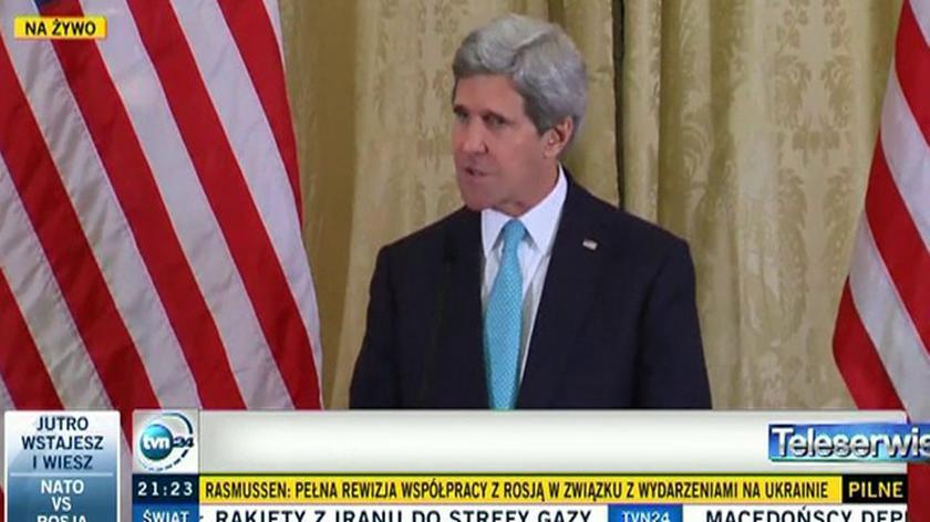 John Kerry o sytuacji na Ukrainie