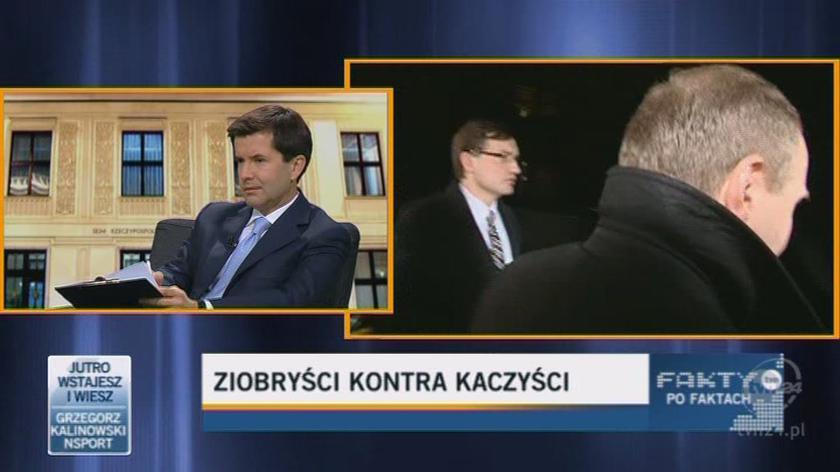 Kaczyński nie chciał rozmawiać osobiście z Ziobrą (TVN24)